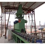 Horizontal Through Gas Tank Surface Descaling Shot Blasting Machine