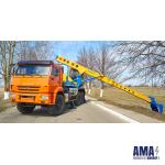 Excavator with Telescopic Working Equipment on KAMAZ 43118-A5 Chassis